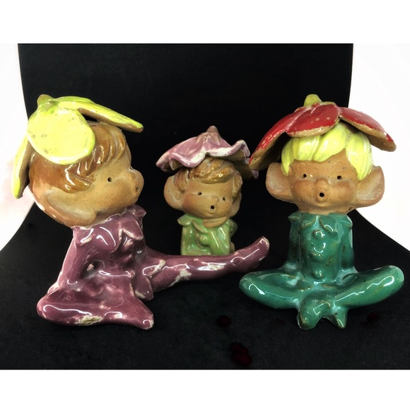 Napcoware Japan Other - Napcoware Japan Vintage 1964 FlowerElves Figurines